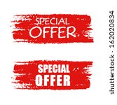 special offer   text on red... | Shutterstock .eps vector #162020834