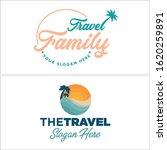 sea beach logo design vector... | Shutterstock .eps vector #1620259891