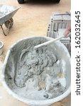 bricklaying mortar mix  | Shutterstock . vector #162032645