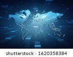 2d illustration world map... | Shutterstock . vector #1620358384