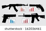 illustration of several rifles... | Shutterstock .eps vector #162036461