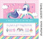 birthday party invitation card... | Shutterstock .eps vector #1620378451