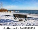 Single Bench By Lake Ontario
