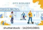 city people riding eco friendly ... | Shutterstock .eps vector #1620410881