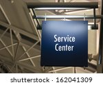 blue signage marks the customer ... | Shutterstock . vector #162041309