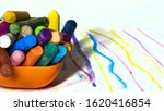 colors wax pencil isolated on...   Shutterstock . vector #1620416854
