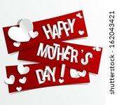 creative happy mother's day... | Shutterstock .eps vector #162043421