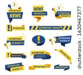 important badges. attention... | Shutterstock .eps vector #1620467377