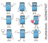cartoon smartphone. mobile... | Shutterstock .eps vector #1620467437