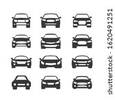 car vector icons set. isolated... | Shutterstock .eps vector #1620491251