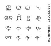 Drums Icons Set. Elements Of...