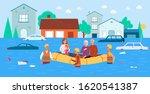 flood rescue banner   cartoon...   Shutterstock .eps vector #1620541387
