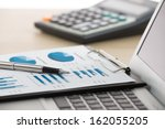 businessman analyzing... | Shutterstock . vector #162055205