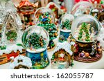 Lot Of Various Snow Globes On...