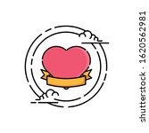 heart with ribbon vector design....