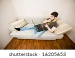 young designer working at home... | Shutterstock . vector #16205653
