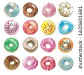 Many Colorful Donuts In...