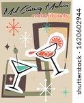 mid century modern cocktail...   Shutterstock .eps vector #1620602944