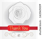 thank you card rose | Shutterstock .eps vector #162065039