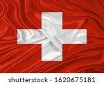 Silk Flag Of Switzerland ....