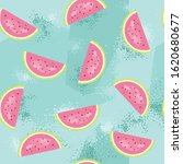 seamless pattern with slice of... | Shutterstock .eps vector #1620680677