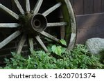 Close Up Of An Old Wooden Wagon ...