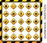 construction and hazard signs | Shutterstock .eps vector #162071231