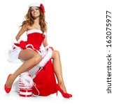 Christmas Santa Hat Isolated...