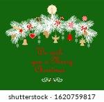 christmas arch with fir tree... | Shutterstock . vector #1620759817