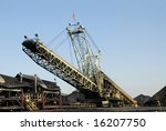 Industrial Loader used to Load Coal for Transport - stock photo