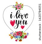 happy valentines day card.... | Shutterstock .eps vector #1620784051