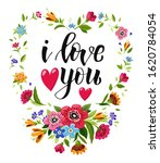 happy valentines day card with... | Shutterstock .eps vector #1620784054