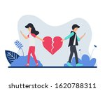 a couple cry and run away due... | Shutterstock .eps vector #1620788311