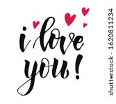 cute lettering i love you... | Shutterstock . vector #1620811234
