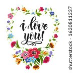 happy valentines day card with... | Shutterstock . vector #1620811237