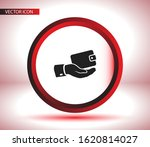 outline wallet icon in hand...   Shutterstock .eps vector #1620814027