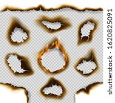 burnt paper holes and scorched... | Shutterstock .eps vector #1620825091