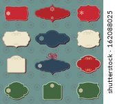 christmas colored labels a set... | Shutterstock .eps vector #162088025