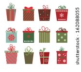 christmas gifts a site of... | Shutterstock .eps vector #162088055