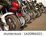 Motorcycle Wheel Closeup....