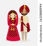 cute indian wedding bride and... | Shutterstock .eps vector #1620888994