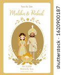 save the date cute indian... | Shutterstock .eps vector #1620900187
