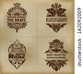 banner set. old fabric and... | Shutterstock .eps vector #162092009