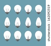 light bulbs and bulb icon set... | Shutterstock .eps vector #162092519