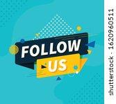 follow us vector shapes design   Shutterstock .eps vector #1620960511