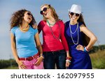 attractive young women having... | Shutterstock . vector #162097955