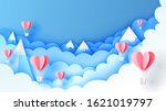 illustration of hot air... | Shutterstock .eps vector #1621019797