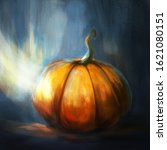 Digital Painting. Orange Pumki...