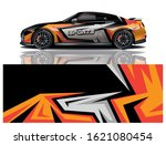 sports car wrapping decal design   Shutterstock .eps vector #1621080454