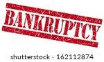 bankruptcy grunge red stamp | Shutterstock . vector #162112874